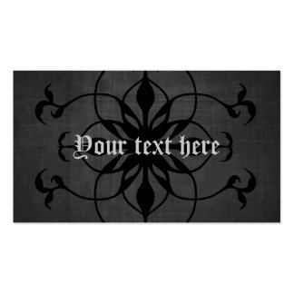 Dark Gothic flower business cards to personalize