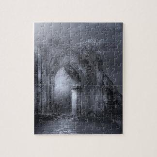 Dark Gothic Ruins Archway Jigsaw Puzzle