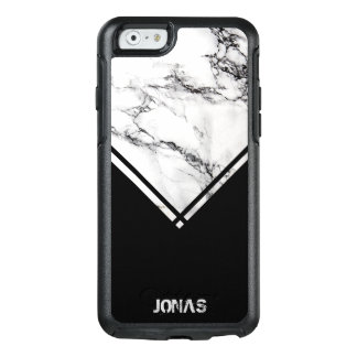Dark Gray And White Marble And Black Stripes OtterBox iPhone 6/6s Case