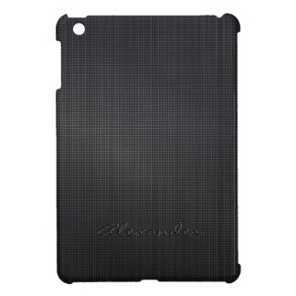 Dark Gray Brushed Metal Look Cross Stitch Pattern Cover For The iPad Mini