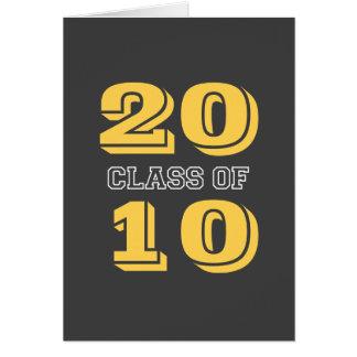 Dark gray class 2010 graduation photo announcement note card
