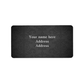 Dark gray damask to personalize address label