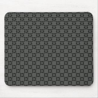 Dark Gray Funky Circles Mousepad