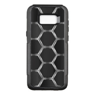 Dark-gray & Metallic Silver Geometric Pattern OtterBox Commuter Samsung Galaxy S8+ Case