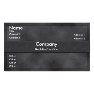 Dark Gray Parchment Business Card