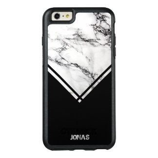 Dark Gray & White Marble And Black Stripes OtterBox iPhone 6/6s Plus Case