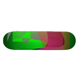 Dark Green Abstract Composition Skate Board Decks