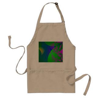Dark Green Abstract Painting Aprons