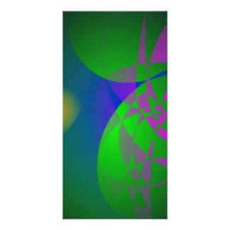 Dark Green Abstract Painting Custom Photo Card