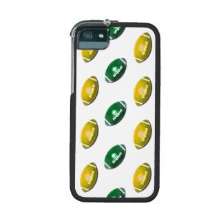 Dark Green and Gold Football Pattern iPhone 5 Covers