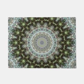 Dark Green and Grey Mandala Doormat