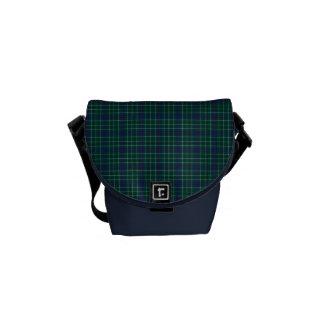 Dark Green and Royal Blue Duncan Clan Tartan Messenger Bags