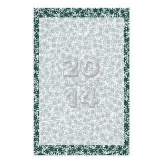 Dark Green and White Star Team Spirit Sports Color Personalised Stationery