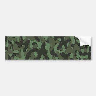 Dark Green Camouflage Pattern Bumper Sticker