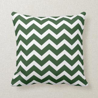 Dark Green Chevron Stripe Pillow