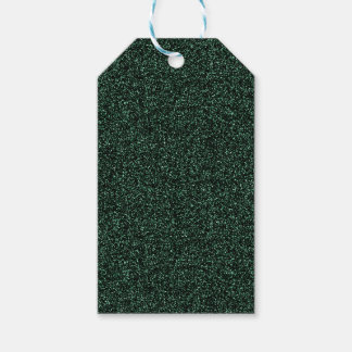 Dark green faux glitter gift tags