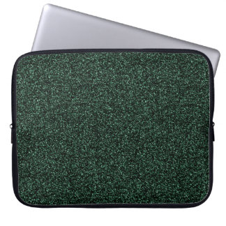 Dark green faux glitter laptop sleeve