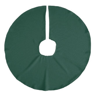 Dark Green Faux Linen Tree Skirt