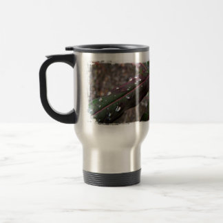Dark Green Fireweed Leaf with Water Droplets 15 Oz Stainless Steel Travel Mug