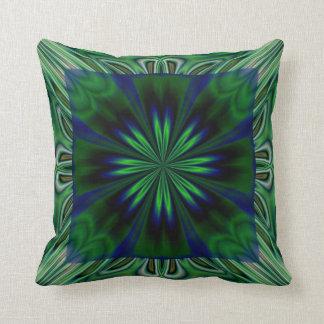 Dark Green Flower American MoJo Pillows Cushion