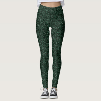 Dark green glitter effect leggings