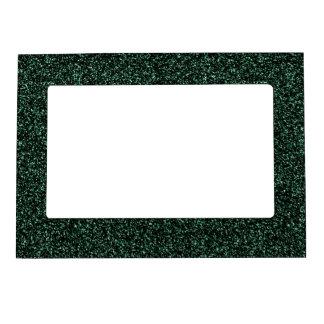 Dark green glitter magnetic frame