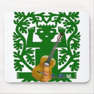 DARK GREEN GUITAR SPIRITS, SAN PABLITO, CUSTOMI MOUSEPAD
