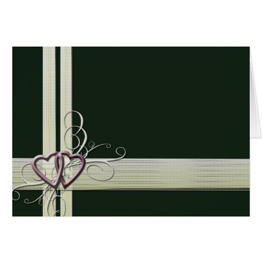 Dark Green Heart design Greeting Card