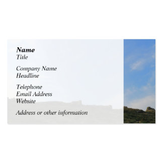 Dark Green Hill Top and Blue Sky. Business Card Templates