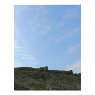 Dark Green Hill Top and Blue Sky. Custom Flyer