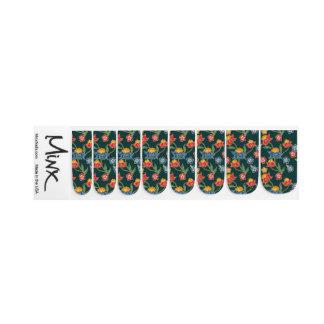 Dark green Indonesian floral vines Batik pattern Nails Sticker