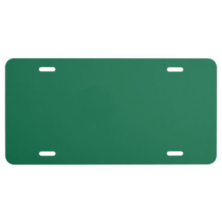 """""""Dark Green"""" License Plate"""