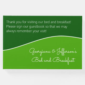 Dark Green, Light Green Bed & Breakfast Guestbook