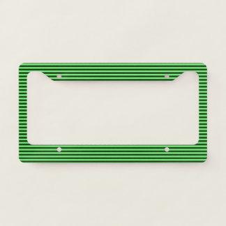 Dark Green & Light Green Stripes/Lines Pattern Licence Plate Frame