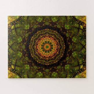 Dark Green Mandala Jigsaw Puzzle