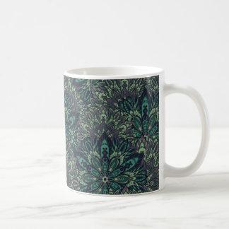 Dark green mandala pattern. coffee mug