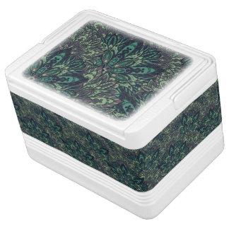 Dark green mandala pattern. cooler