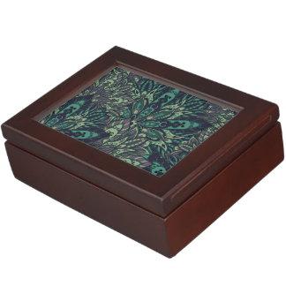 Dark green mandala pattern. keepsake box