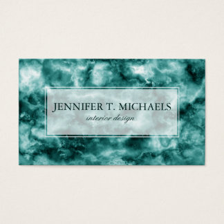 Dark Green Marble Texture Business Card