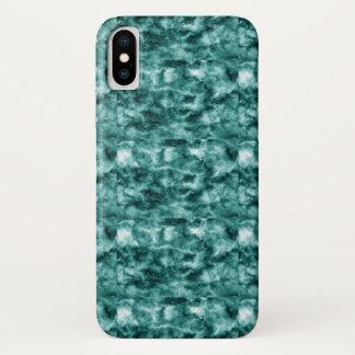 Dark Green Marble Texture iPhone X Case