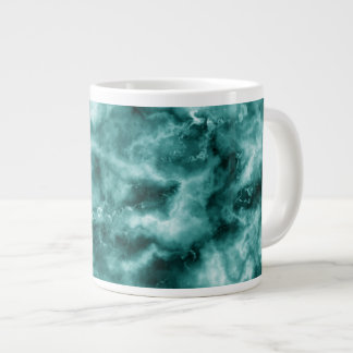 Dark Green Marble Texture Large Coffee Mug