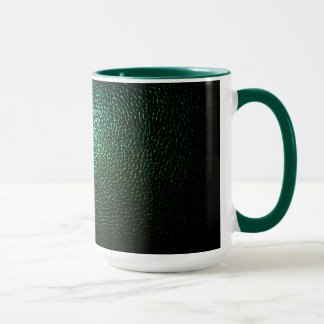 dark,Green, mug, leather Mug