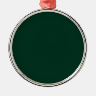 Dark Green Silver-Colored Round Decoration
