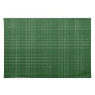 Dark Green Soft Plaid Cloth Place Mat