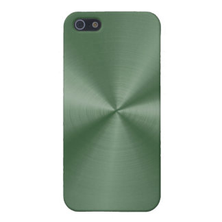 Dark Green Stainless Steel iPhone 5/5S Covers