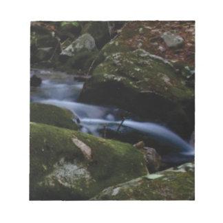 dark green stream notepad