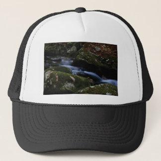 dark green stream trucker hat