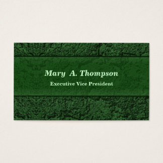 Dark Green Stucco Texture Business Card