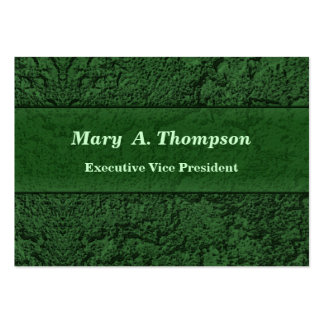 Dark Green Stucco Texture Pack Of Chubby Business Cards