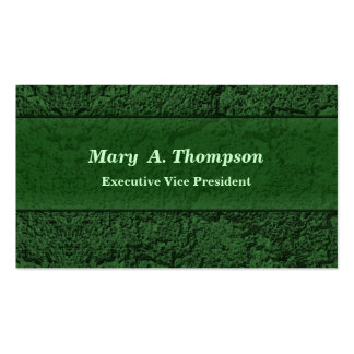 Dark Green Stucco Texture Pack Of Standard Business Cards